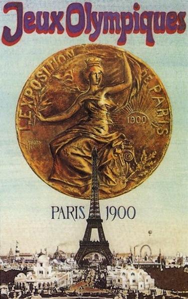 La locandina dei Giochi di Parigi