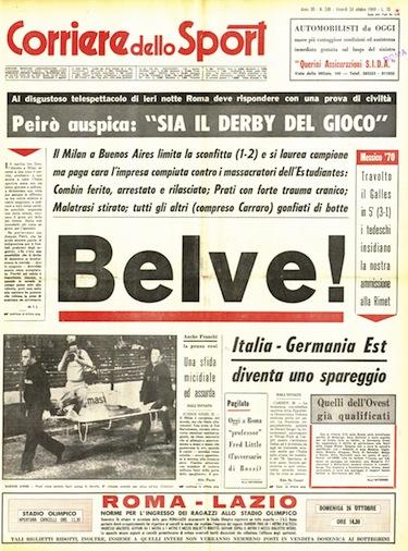 I giornali italiani denunciano la mattanza del Bombonera