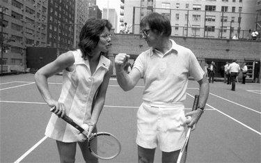 1973: la n.2 del tennis mondiale e un campione di Wimbledon in ritiro (© Corbis)