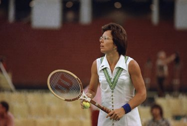 Billie Jean King durante la partita dei sessi  (© AP Photo)