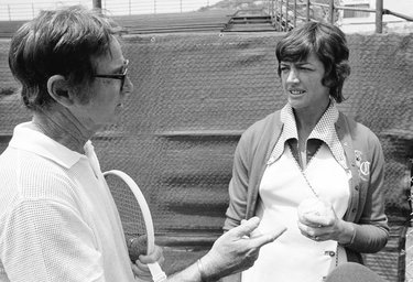 Bobby Riggs e Margaret Court  (© AP Photo/Wally Fong)