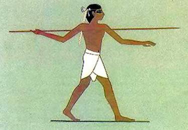 Tiro del giavellotto - Affresco da una tomba egizia