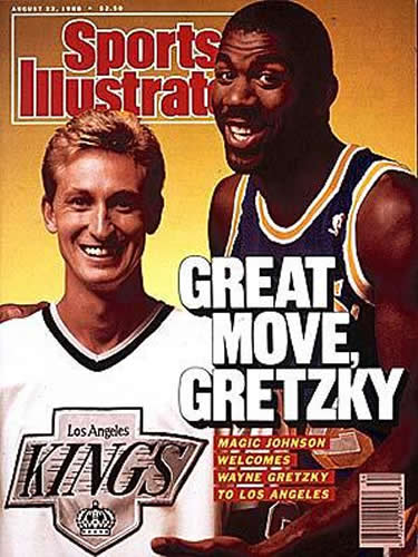 Gretzky e Magic Johnson in copertina