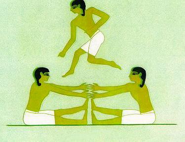 Gioco giovanile di salto in alto – Tomba di Mereruke (Saqqara - VI Dinastia, 2250 a.C.)