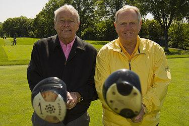 Jack Nicklaus (a destra) e Arnold Palmer nel 2012 (©USGA/John Mummert)
