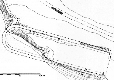 La pianta dello Stadio di Antonino
