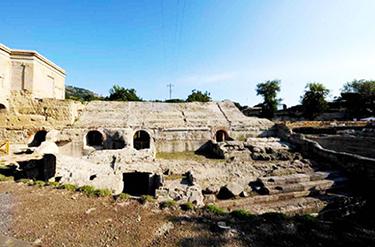 I resti dello Stadio di Antonino a Pozzuoli