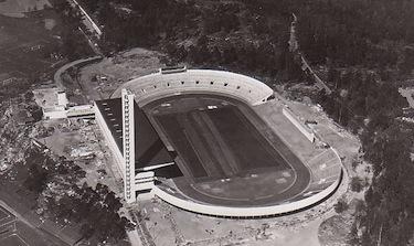 Una veduta dell'Olympiastadion di Helsinki nel 1938