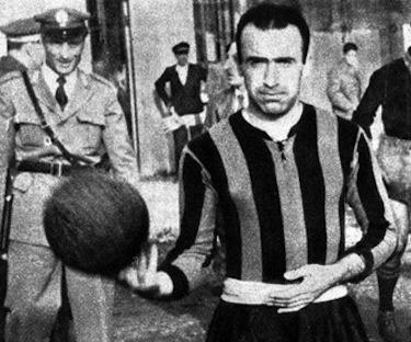 Amadei con la maglia dell'Inter