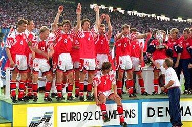 La Danimarca vincente agli Europei del 1992