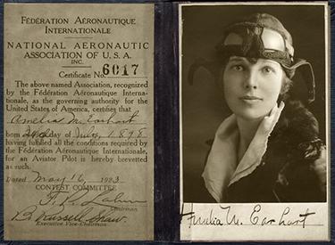 La licenza di volo di Amelia