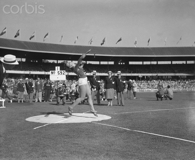 Olga Fikotova Throwing Discus