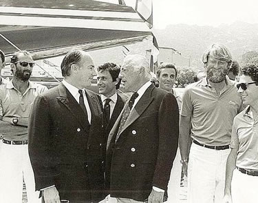 Gianni Agnelli e l'Aga Khan