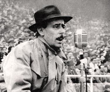 Nicolò Carosio giovane radiocronista