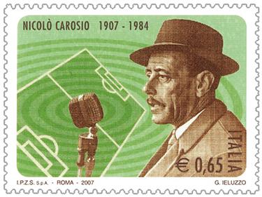Il francobollo del 2007 dedicato a Carosio