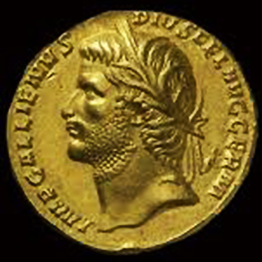 Gallieno - Ritratto su aureo