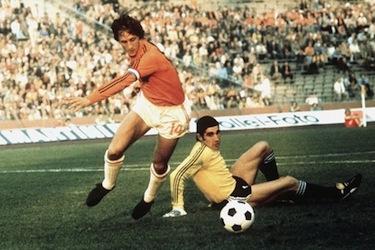 Johan Crujff in azione