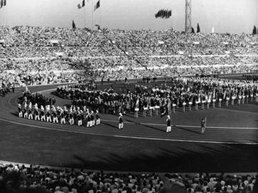 La cerimonia di apertura dei Giochi Olimpici di Roma