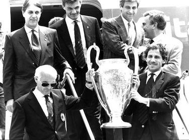 Riportando a Milano la Coppa dei Campioni Arrigo è nella storia