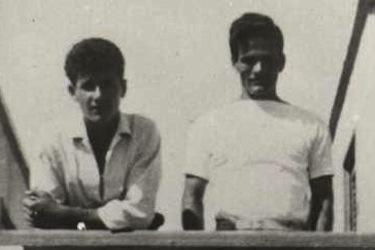 Pasolini insieme al suo allievo Vincenzo Cerami