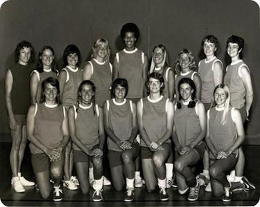 La squadra dell'Università di Houston: Flo fu la prima atleta donna a ricevere una borsa di studio