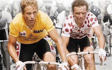 Greg LeMond e Bernard Hinault al Tour 1986