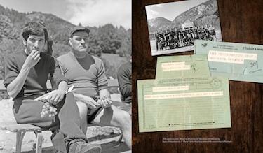Meroni insieme a Rocco. A destra, il telegramma di congratulazioni del Paròn (© Carlo Pozzoni Fotoeditore)