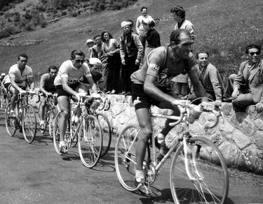 Alfredo Martini al Giro d'Italia con Fausto Coppi