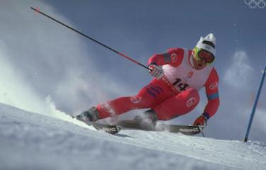 Marc impegnato in uno slalom gigante