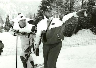 Marc con l'inseparabile padre-allenatore Helmut