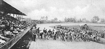 Il velodromo di Valisburg nei primi anni del Novecento