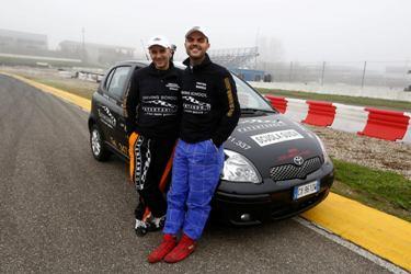 Omar e Daniele sul circuito di Castelletto