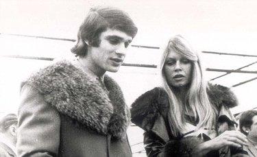 Il pilota François Cevert con Brigitte Bardot