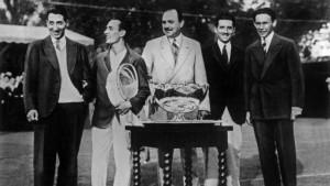 I Moschettieri con la Coppa Davis