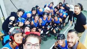 Selfie europeo del Team Italia Roller Derby