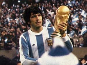 Passarella con la maglia dell'Argentina