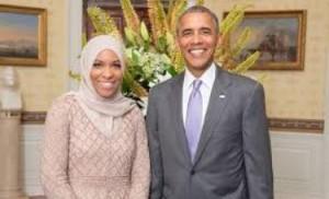 La Muhammad con Barack Obama