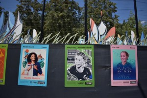 Le immagini nel Jardin Nelson Mandela a Parigi