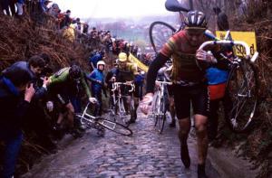 Un fotogramma dalla gara del 1985